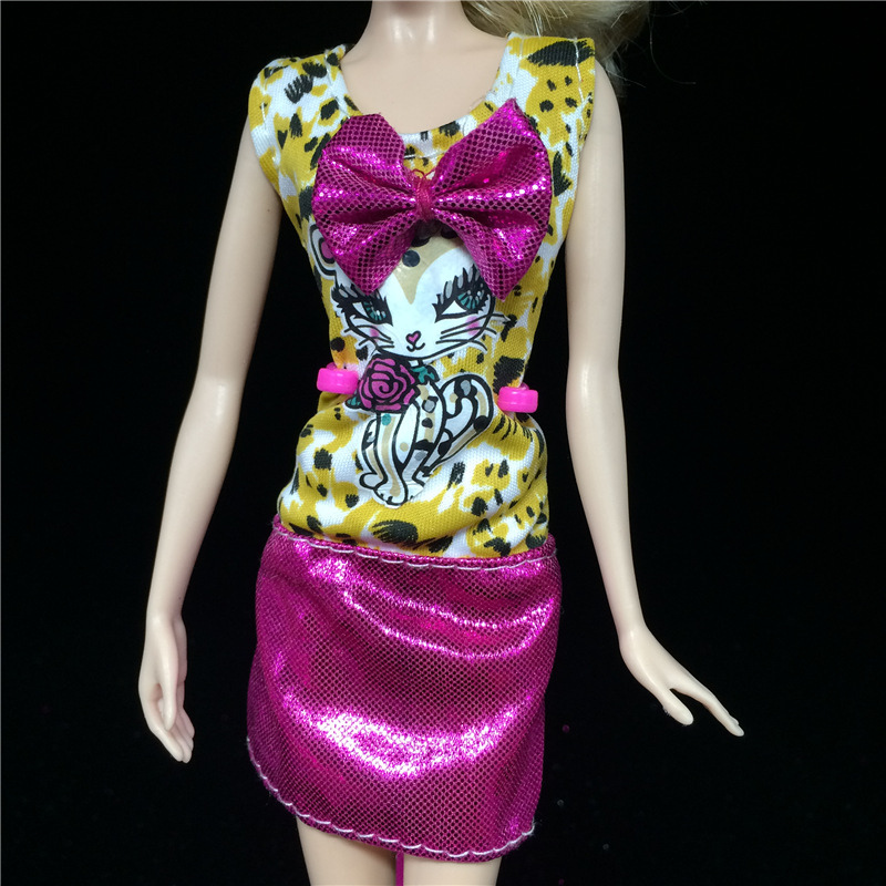 2016 handmade costume New Lovely costume Handmade Get together Garments Vogue Costume for Noble Barbie Doll Free delivery