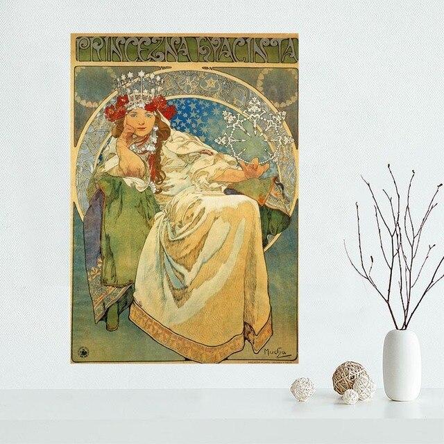 Nice Custom Alphonse Mucha Canvas Poster Print painting Art Wall ...