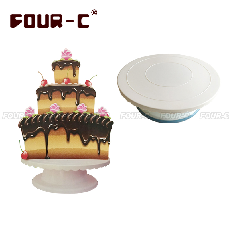 Plastic cake revolving turntable cake decorating stand fondant cake DIY tools Revolving Cake Stand