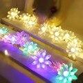 Светодиодная гирлянда с цветами лотоса 4 м 5 м  праздничная Декоративная гирлянда  рождественское свадебное украшение  освещение  штепсельн...