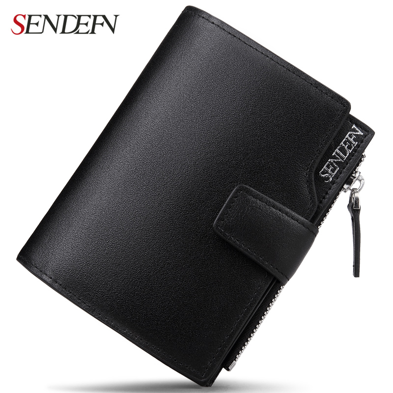 2017 New Wallet Male Short Wallets Men Leather Wallets Men Wallets Fashion Dollar Price Card Holder Coin Pocket Solid Purses 2017 men business short leather wallet male brand wallets purses with card holder for men
