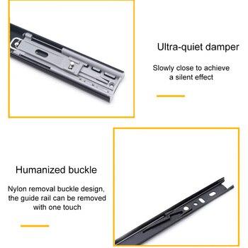 Hohe 2 Pcs Kugellager Seite Montieren Schublade Rutschen Stumm Weiche Schließen Schiene Rack Hardware LG66
