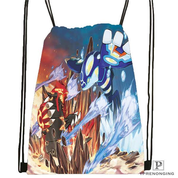 Custom Reshiram-pokemon-@1 Drawstring Backpack Bag For Man Woman Cute Daypack Kids Satchel (Black Back) 31x40cm#20180611-03-141