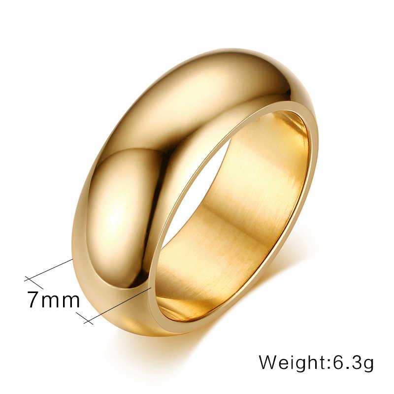 שחור כחול רוז זהב צבע נירוסטה טבעת גברים טיטניום טבעת גברים נשים תכשיטי זוג קצר טבעת