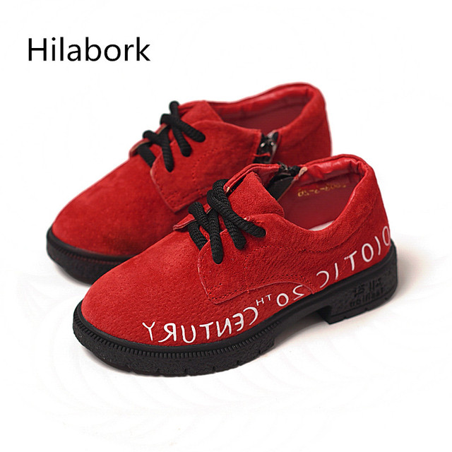 2017 new children's fashion shoes girls with side zipper boys spring and autumn princess shoes retro in children shoes girls