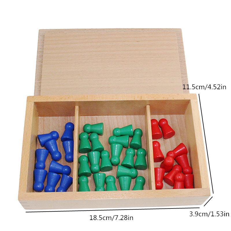 Montessori Baby Wooden Educational Toys Mathematics Learning Preschool Teaching Aids Test Tube Long Division Board - 2