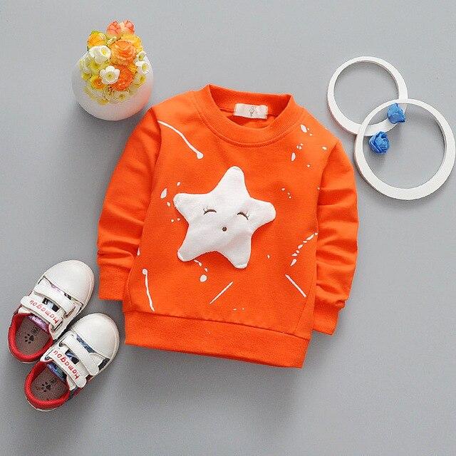 47b59882352 Baby Boys T Shirt Children Clothing 2017 Brand Clothes Boys Long Sleeve  Tops Star Appliques Kids T-shirts for Boy Sweatshirt