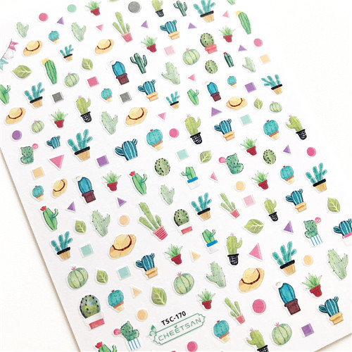 NEWEST 3D Cactus NAIL ART STICKERS