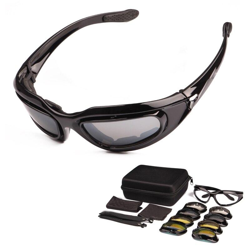 Polarizált C5 hadsereg védőszemüveg katonai napszemüveg 4 lencse készlet férfi sivatagi taktikai szemüveg sport szemüveg ciclismo kerékpáros szemüveg