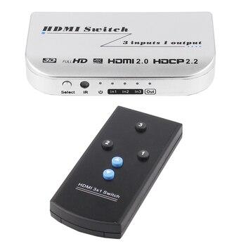 коммутируемый удлинитель | HDMI переключатель 3x1 4Kx2K @ 60Hz 3 в 1 3 порта HDMI Двойной режим коммутатор 3D с ИК беспроводным пультом дистанционного управления
