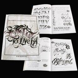 A4 tatuagem livro cartas para viver pelo volume #1 design tatuagem flash livro por grandes sleeps (44-páginas)