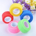 2.5cmx4.5m 5rolls/lot coban latex free nonwoven elastic self adhesive adherent cohesive Wrap Finger Bandage tender Tape