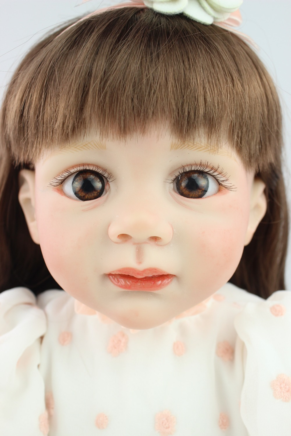 24inch Reborn Toddler baby doll Fridolin lifelike sweet girl real gentle touch educational toys for girl's birthday gifts new arrived 55 60cm silicone reborn baby dolls fridolin sweet girl real gentle touch rooted human hair with pink dress newyear