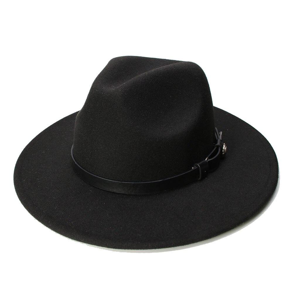 LUCKYLIANJI Wool Felt Western Cowboy Hat For Kid Child Wide Brim Cowgirl  Kallaite Braid Leather Band ... 4d6f3b93c030