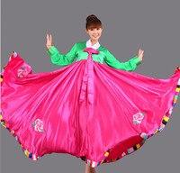 Sıcak 2015 Yeni Kore Ulusal Kostüm Lady Mahkemesi Azınlık Giyim Kore Geleneksel Hanbok Elbise