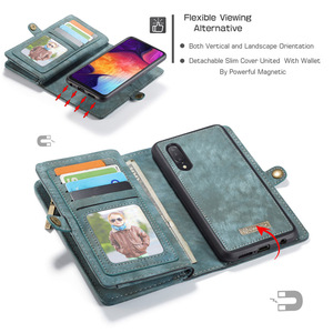 Image 3 - Para samsung galaxy a20 a30 a50 caso luxo genuíno flip carteira capa de couro caso de volta do telefone móvel para samsung a40 a70 a50