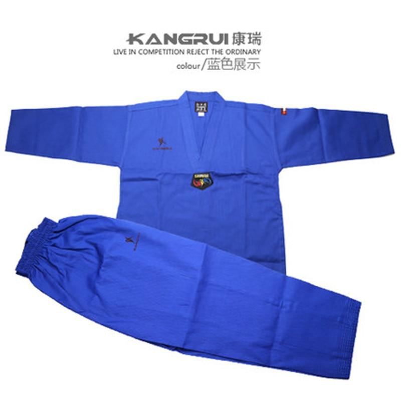 Poomsae Taekwondo Uniform kleurrijke rood blauw zwart coach dobok - Sportkleding en accessoires - Foto 3
