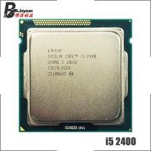 Intel processador quad-core, processador para cpu intel core i5-2400 i5 2400 3.1 ghz quad-core 6m 95w lga 1155