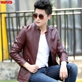 2017 pu leather male cultivate one's morality short pure color long sleeve favors a motorcycle leather jackets youth thin coat