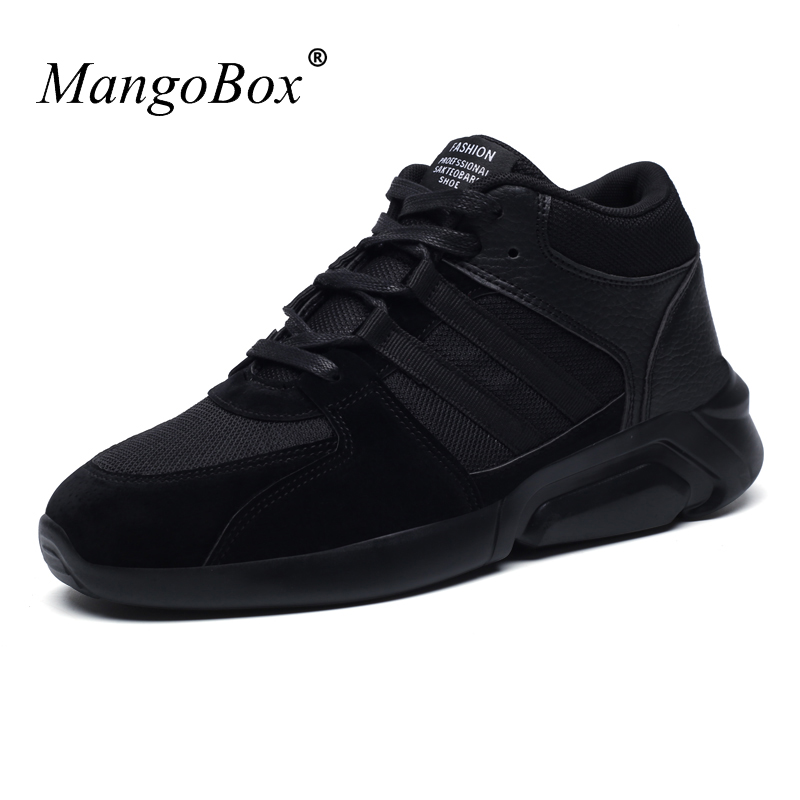 Mangobox New Arrival Mens Sports Shoes Running Sneakers Black Red Comfortable Gym Trainers Lightweight Mens Footwear