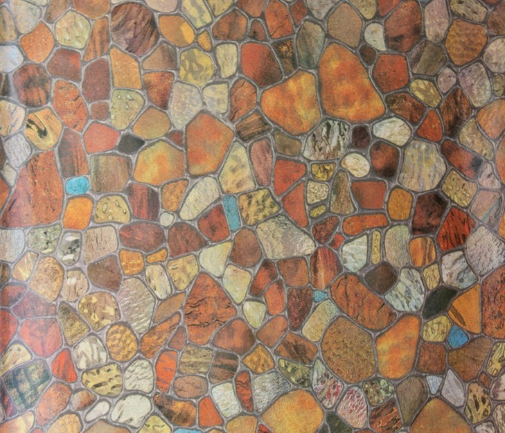 Brown Privacy Stained Glass Decorative Window Film Vinyl