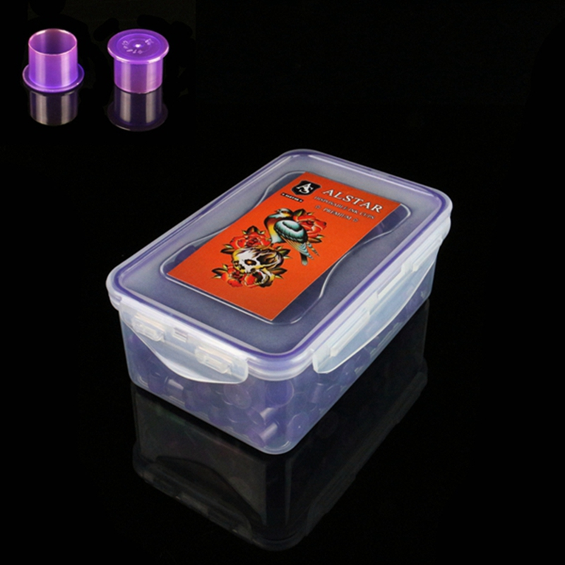 AlSTAR 800pc Plastic Tattoo Ink Cups Caps 11*10mm Purple Medium Classic Without Base Ink Caps Tattoo Pigment Cups Colores Tattoo