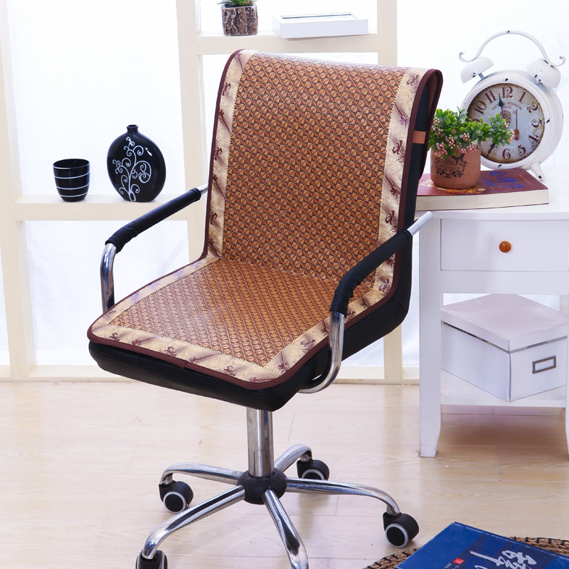 Us 14 55 37 Off Rattan Slide Proof Chair Cushion Summer Cooling Chair Cover For Office Chair Plaid Dustproof Chair Mats High Quality 1pc In Chair