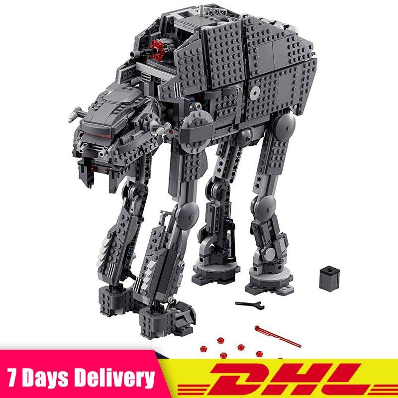 EN Stock LEPIN 05130 Étoiles 1541 pcs Wars La Première commande lourd assaut walker Blocs de Construction Briques Compatible LegoINGlys 75189