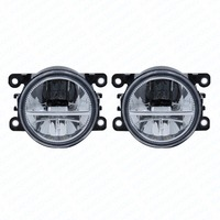 2pcs Car Styling Round Front Bumper LED Fog Lights DRL Daytime Running Driving Fog Lamps For