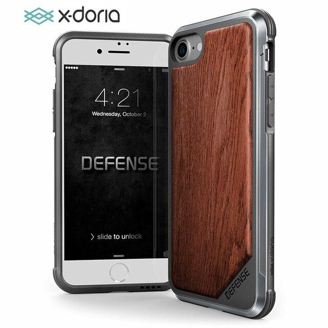 Funda x doria Defense Lux para iPhone 7 8 Plus, carcasa de teléfono de grado militar probada con caída para iPhone 7 8 Plus, funda de aluminio