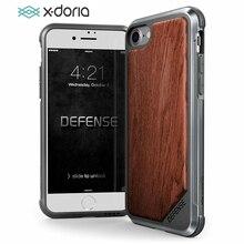 X דוריה הגנה Lux מקרה עבור iPhone 7 8 בתוספת צבאי כיתה זרוק נבדק טלפון מקרה Coque עבור iPhone 7 8 בתוספת אלומיניום כיסוי קאפה