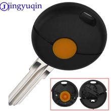jingyuqin 1 Button Remote Car Key Shell Styling For Benz Smart Fortwo 1998-2012 US Car Key Case Uncut Blade Flip Car Key Cover