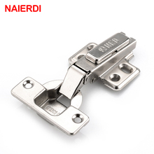 цена на 2PCS NAIERDI Rustless Iron Hinge Two Force Cabinet Cupboard Door Hinges Universal Size Hinge For Kitchen Home Furniture Hardware