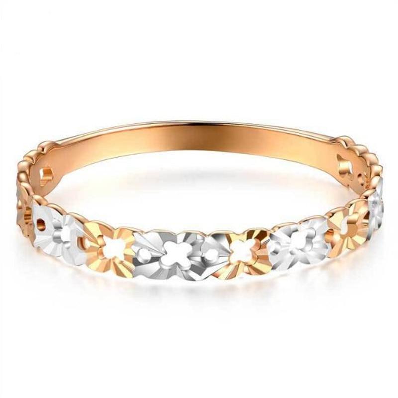 Здесь продается  Fashion 2 Colors Flower Wedding Rings For Women Bijoux Anel Femme Engagement Ring 18K Gold Statement Jewelry Lover Gift  Ювелирные изделия и часы