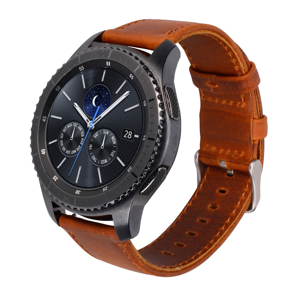 Excellent Quality Replacement Leather Bracelet Watch Strap Band For Samsung Gear S3 Smart Watch Band eache silicone watch band strap replacement watch band can fit for swatch 17mm 19mm men women