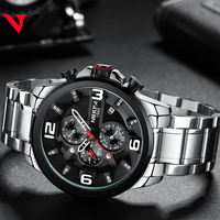 Relogio Masculino NIBOSI Watch Men Waterproof Luxury Brand 2018 Men Watches Stainless Steel Chronograph Wrist Watch Montre Homme