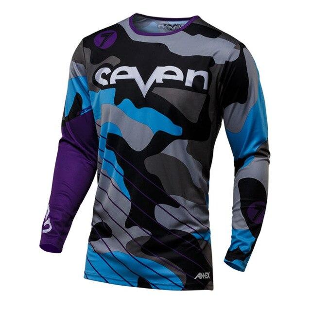 2018 שבעה שרוול ארוך ג 'רזי mtb מוטוקרוס downhill ג' רזי camiseta ropa בגדי אופנוע mx dh אופני הרי