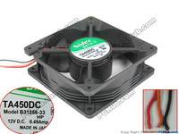 Nidec B31256-33 Server Square Cooling Fan DC 12V 0.49A 120x120x38mm 3-wire