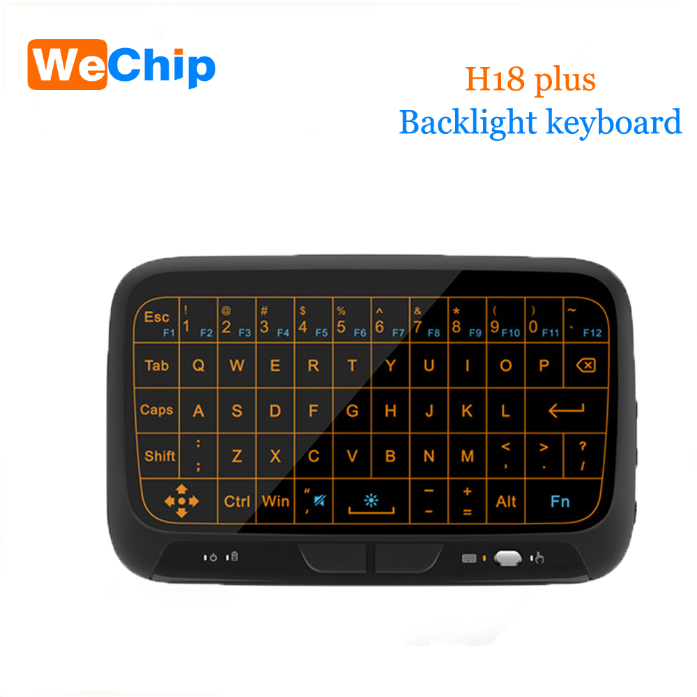 5pcs/Lot H18 Wireless Keyboard 2.4 G Portable Keyboard With Touchpad Mouse for Windows Android/Google/Smart TV Linux Windows Mac