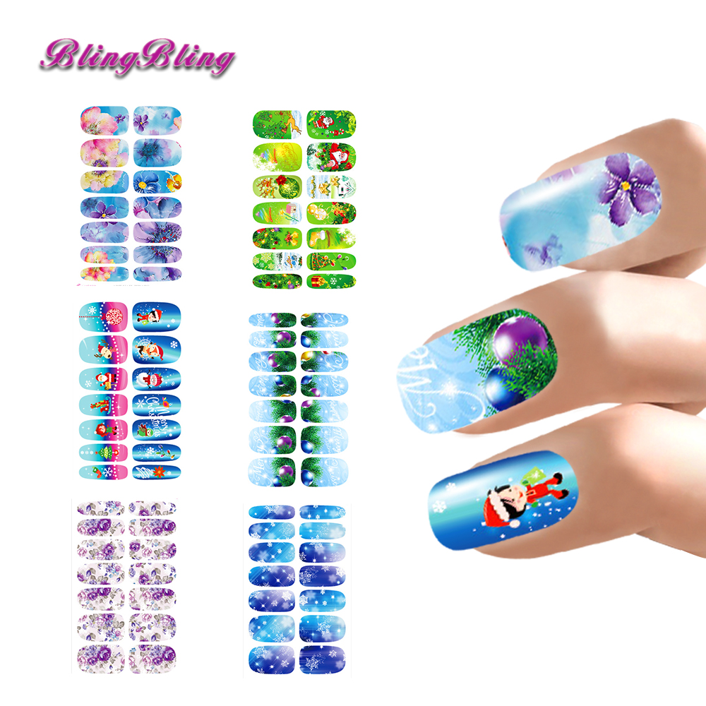 Aliexpress.com : Buy Christmas Design Nail Stickers Set For Nails ...