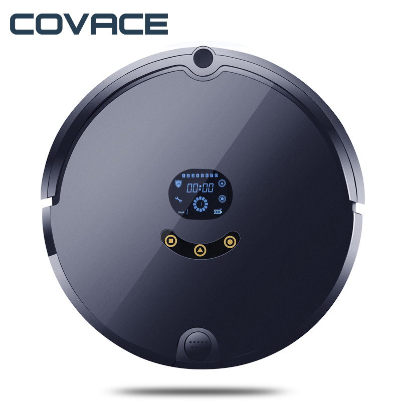 COVACE Multifunctional Intelligent Robotic Vacuum Cleaner Self-Charge Home Appliances Vacuum Remote Control Side Brush FR-S multifunctional intelligent robotic vacuum cleaner for home big suction nozzle remote control planned cleaning route fr e