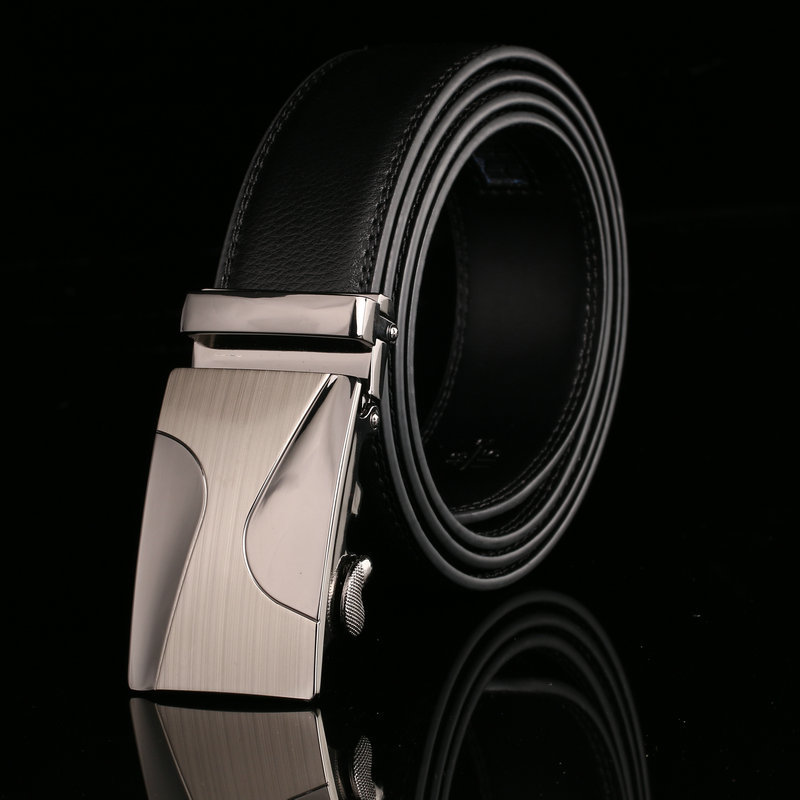 Famous  brand luxury men`s genuine leather belts for men automatic alloy buckle better gifts business choice top quality