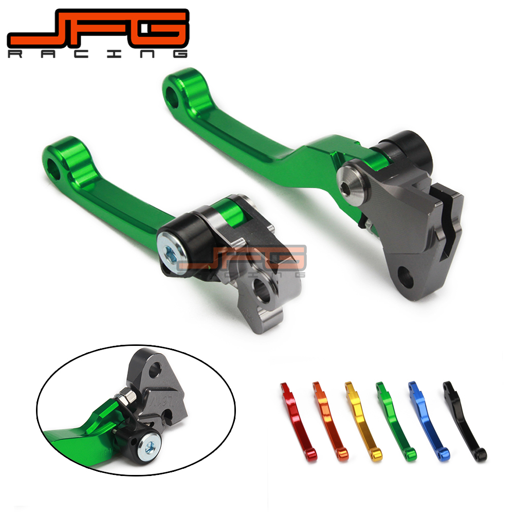 CNC Pivot Foldable Clutch Brake Lever For KAWASAKI KX125 KX250 KX 125 250 KX250F KX450F KXF 250 450 KD 200 220 KDX200 KDX220 4pcs set invisible clear automobiles door handle protective sticker adhesive car door handle paint scratch protection film new