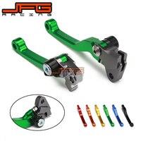 CNC Pivot Foldable Clutch Brake Lever For KAWASAKI KX125 KX250 KX 125 250 KX250F KX450F KXF