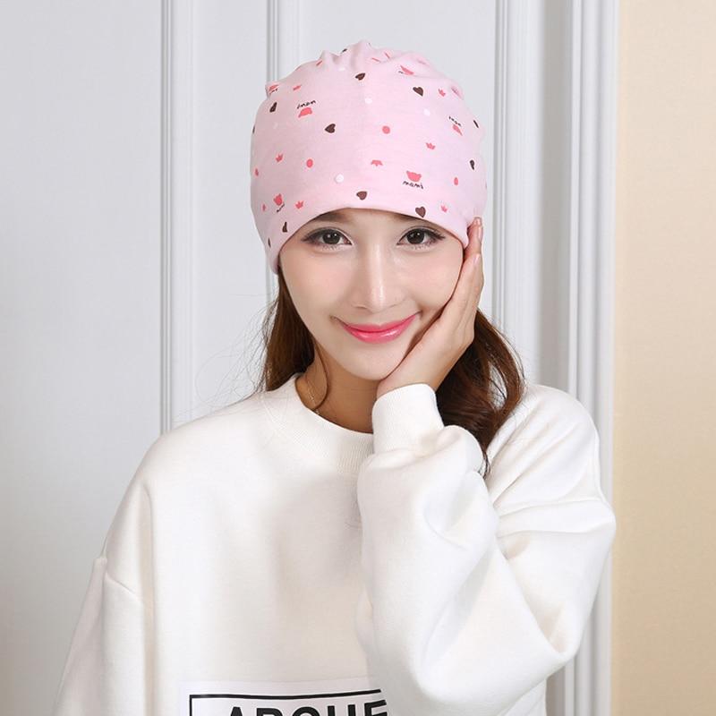 Cotton Spring Summer Autumn Women Ladies Pregnant Hat Printing Multi-functional Supplies Pile Heap Cap FS0384