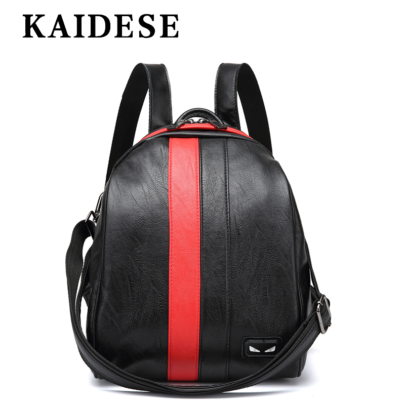 KAIDESE big fashion ladies backpack 2018 new style College Youth Wind shoulder bag multi function leisure travel backpack 2016 new backpack college wind leisure travel fashion leather shoulder bag doubles