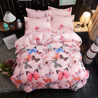 BEST.WENSD High quality bedding bag The single double duvet cover piece quilt 1.5/1.8/2.0 m bed dormitory quilt cover Butterfly|Duvet Cover|Home & Garden -