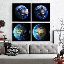 Realist Earth Seven Continents Photograph Home Decor Wall Art Nordic Canvas Painting Vivid Minimalist Picture for Living Room realist interviewing