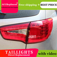 4PCS Car Styling for Kia Sportage R Taillights 2010 2014 for Sportage R LED Tail Lamp+Turn Signal+Brake+Reverse LED light