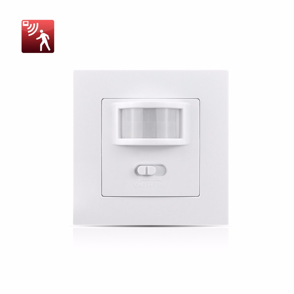 Wall Mounted Pir Motion Sensor Light Switch On Off Power